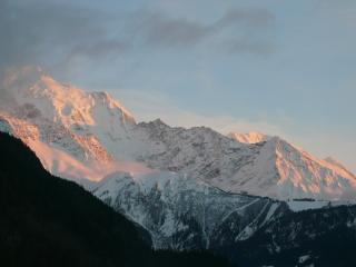 Sunset view,  Mont Blanc range from the Balcony