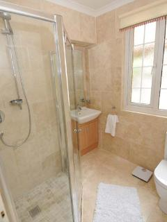 Modern shower room with underfloor heating