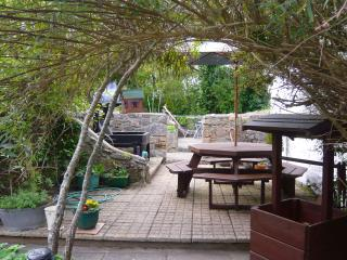 FURTHER PATIO, SEATING AREA AND THE VERY LARGE BBQ