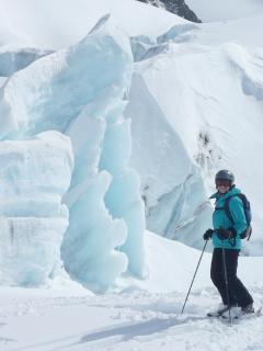 Seracs on the Glacier d'Argentiere