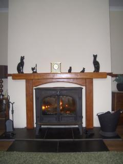 Peat burning stove in lounge