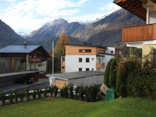 View to Kitzsteinhorn from garden - Autumn