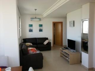 lounge with leather sofa  and leather sofa bed and all UK TV stations