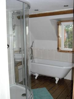 Full bathroom, with bath and shower
