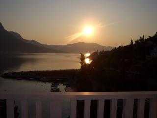 Sunrise from terraces Villa Jade, all 5 Apartments with beautiful sea views