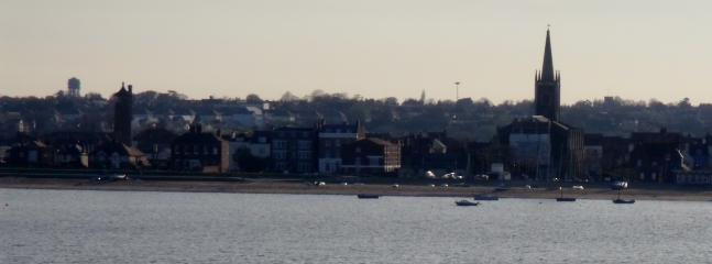 View of Old Harwich from the sea.