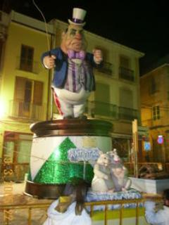 Fallas Fiesta in Denia in March