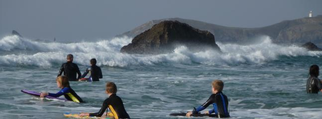 Surfing at Porthcothan