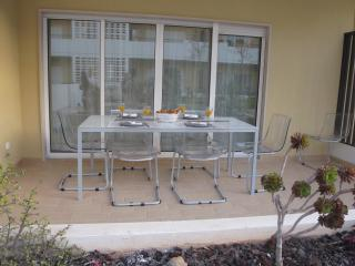 Balcony with dinner table