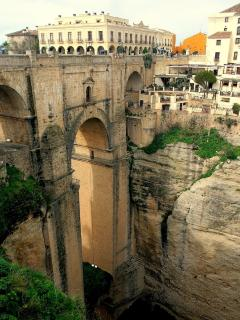 'Nuevo' bridge,Ronda which links the old & new town together
