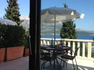 Ground Floor Apartments 1 & 2 terraces with lovely views to Sea