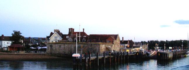 from the ferry arriving at Yarmouth harbour