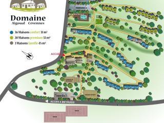 Plan du Domaine Aigoual Cévennes
