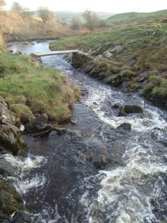 Austwick Beck as it runs through Crummackdale high above Austwick