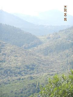 Panorama: le gole formate dalle colline nei dintorni