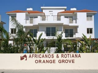 Front view of the beautiful Orange Grove complex