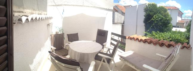 Sunny terrace for chilling or evening hangouts