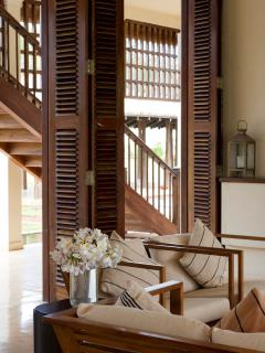 Exquisite woodwork adorns the villas throughout