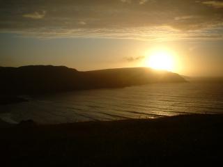 sunset at Cliff beach