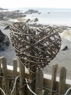 Follow your heart to the beach! (Taken at Tunnel Beaches Ilfracombe)
