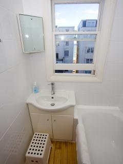 Bathroom with family bath