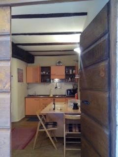 Entrance 1 (the kitchen and the table are in front of the door)