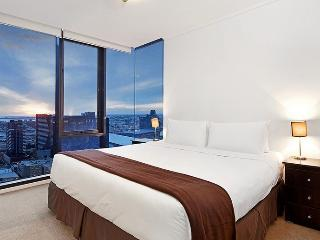 Melbourne Apartment Southbank Master Bedroom evening