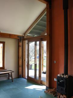 Sliding doors out onto the veranda