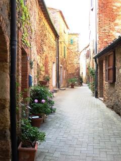 A street in the medioeval village of Belforte