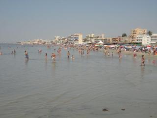 The beach is 4 mins walk away