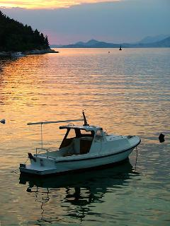 The sunset in Cavtat