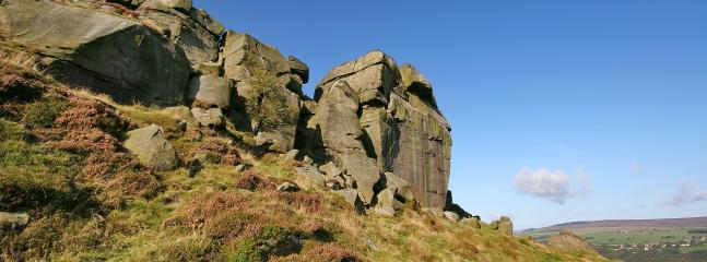 The famous Cow and Calf rocks on Ilkley Moor