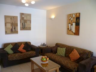 Lounge with seating for six, satellite and internet TV, DVD, secure personal Wi-Fi, iPod/MP3 player