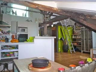 Architect-designed loft type with a sea-view/ wifi, Biarritz