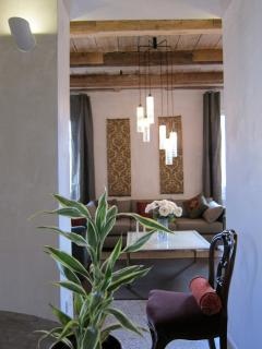 A harmonious blend of modern and antique lighting and furniture inherited from our beloved families.