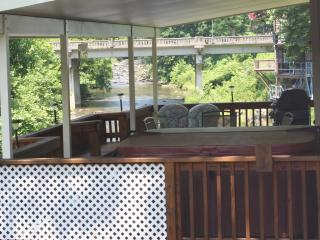 Aug. & Sept. Specials 3Br HOT TUB 20ft above River, FIRE PLACE, GAMEROOM