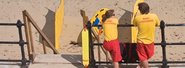 Lifeguards on Sheringham Blue Flag beach throughout the summer