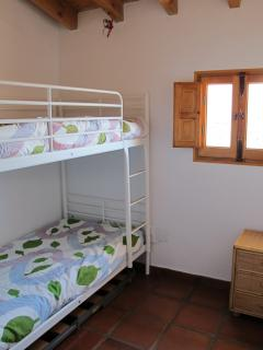 Lovelly small room with bunk beds, ideal for two kids but also good for adults