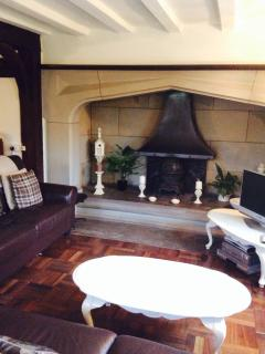 Magnificent fireplace in the lounge for those cosy nights