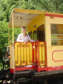 Le Petit Train Jaune at Olette station