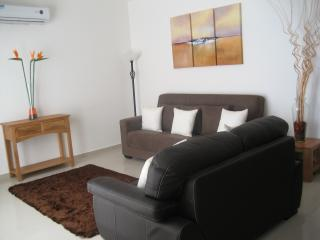Fully air conditioned lounge with double sofa bed and all the luxuries you expect