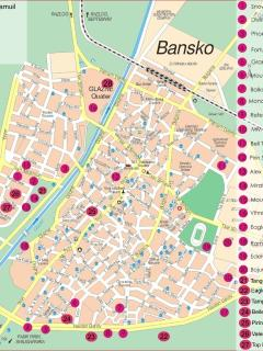 Map of Bansko