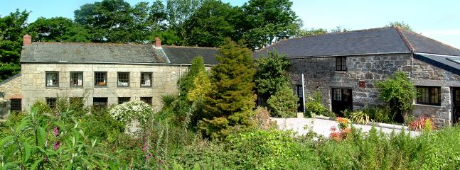 East Trethellan Farmhouse and View
