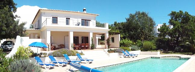 Villa with large, delightful pool area and private parking within grounds