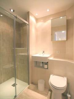 Upstairs Bathroom - with very large walk in shower