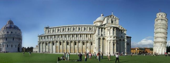 See the 'Leaning Tower' and other attractions at the 'Piazza dei Miracoli' in nearby Pisa