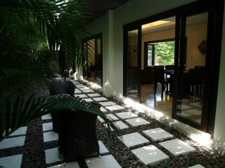 Zen garden off the dining room