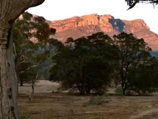 Early Morning Sun on Mountain Range (view from back of property)