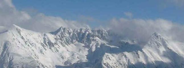 Pirin mountains from ski slope