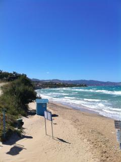 Amboula, the local beach.